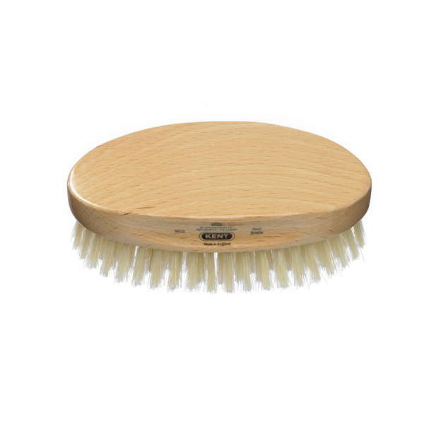 Kent MG3 Mens Military Hairbrush - Oval