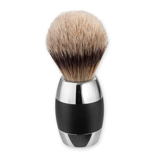 Merkur 90120011 Alu Black Silvertip Shaving Brush