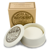 Mitchells Wool Fat Shaving Soap in Ceramic Dish