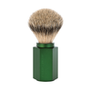 Muhle 091MHXG FOREST Hexagon Shaving Brush, Silvertip Badger