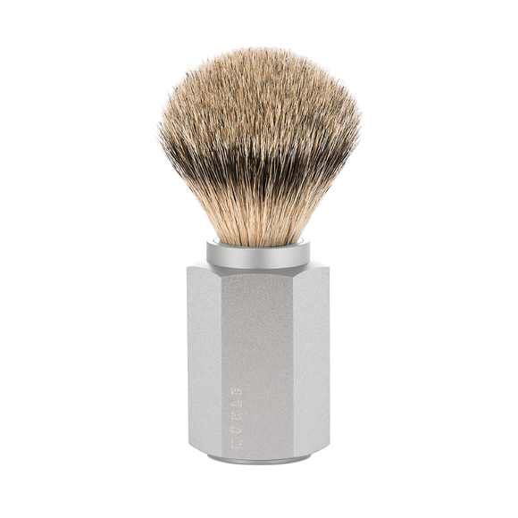 Muhle 091MHXG PURE Hexagon Shaving Brush, Silvertip Badger