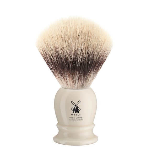 Muhle 31K257 Synthetic Silvertip Shaving Brush - Ivory