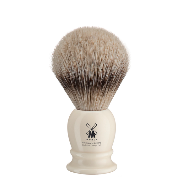 Muhle 93K257 Ivory Resin Silvertip Shaving Brush