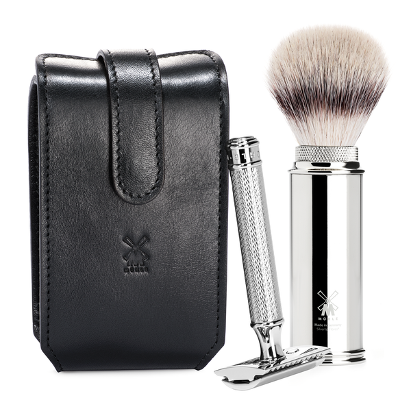 Muhle RT3 SR Safety Razor Travel Shaving Set - Black