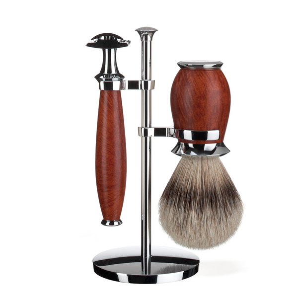 Muhle S091H59SR Purist Briar Wood Safety Razor Shaving Set