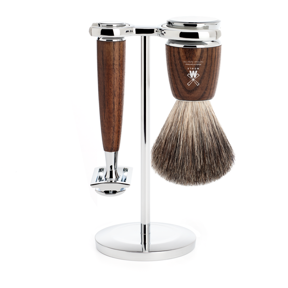 Muhle S81H220SR Rytmo Safety Razor Shaving Set Ash