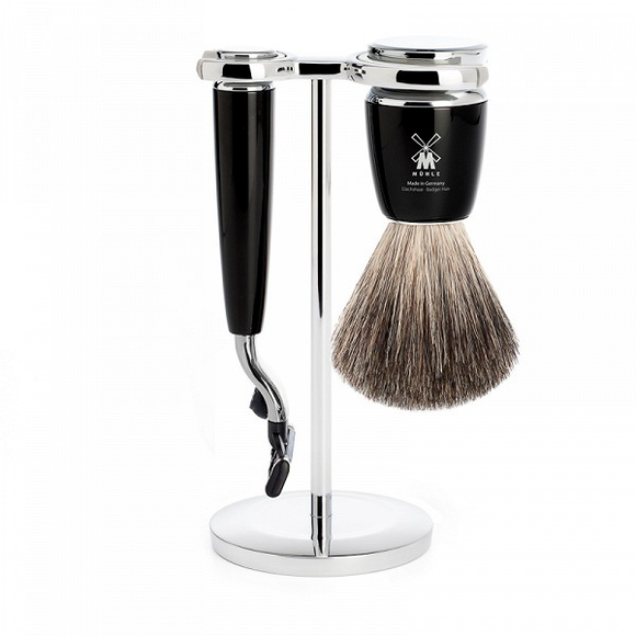 Muhle S81M226M3 Rytmo Mach3 Shaving Set Black