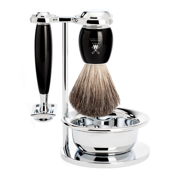 Muhle S81M336SSR VIVO Black Shaving Set with Bowl