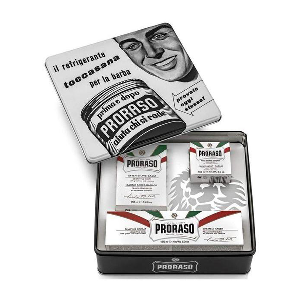 Proraso White Sensitive Vintage Gift Set Tin