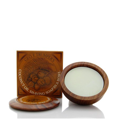 Trumpers Coconut Oil Shaving Soap with Wooden Bowl