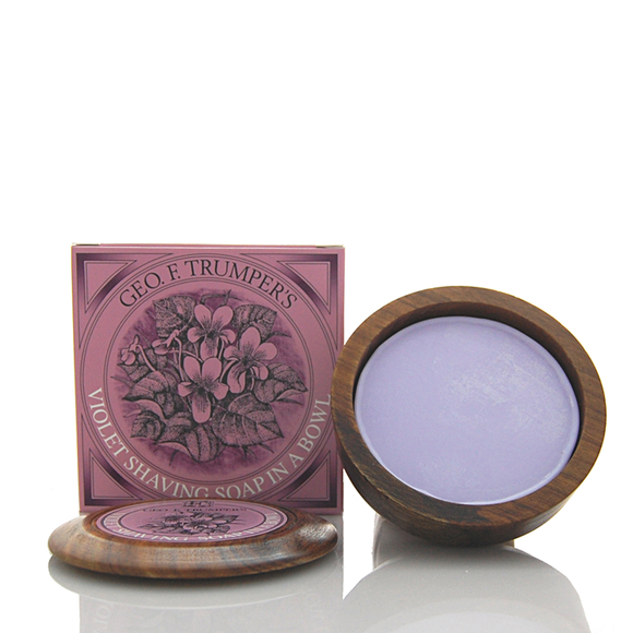 Trumpers Violet Shaving Soap with Wooden Bowl