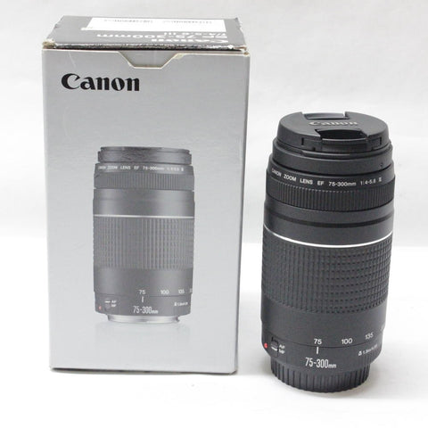 Canon camera lens EF 75-300mm F/4-5.6 III Telephoto Lenses for Canon 1300D 650D 600D 700D 800D 60D 70D 80D 200D 7D T6 T3i T5i