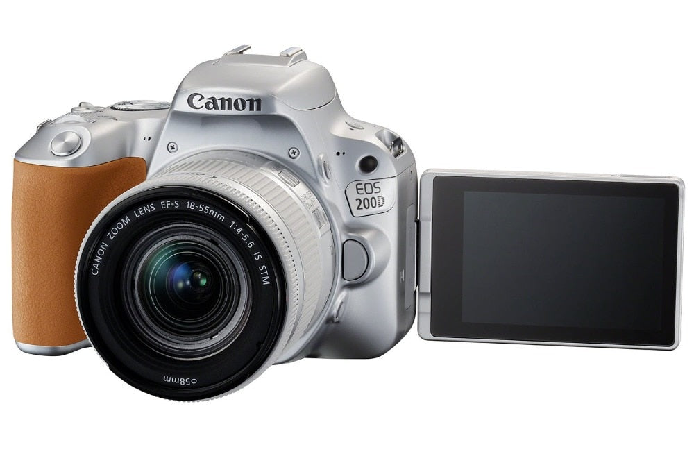 Canon 200D / Rebel SL2 DSLR Camera with 18-55mm Lens (Silver