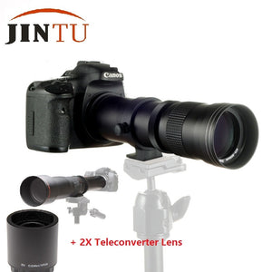 JINTU 420-1600mm f/8.3 HD Telephoto Zoom Lens + 2X Teleconverter LENS For NIKON D5200 D3100 D3300 D90 D3200 D3400 D7100 D7200