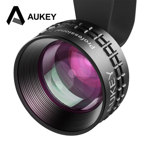AUKEY Phone lenses Optic Pro Lens 2X HD Telephoto Cell Phone Camera Len kit 2X AS Close No Distortion Dark Circle for iPhone etc