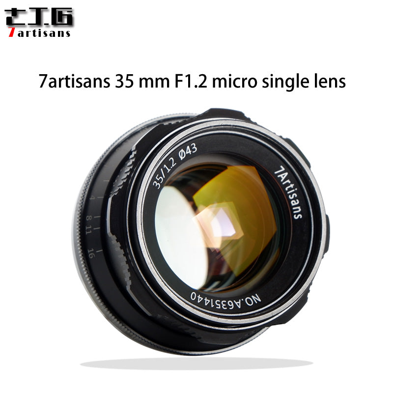 7artisans 35mm F1.2 APS-C Manual Fixed Lens large aperture Prime Lenses For Camera Sony E-mount Canon EOS-M Mount Fuji XF mount