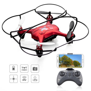 Mini Camera Drone RC Quadcopter High Hold Hovering Helicopter Wifi FPV Control Drone With Camera HD 480P Kids Adult Toy