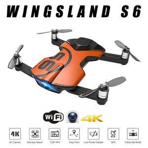 Hot Cheap GPS Drone Wingsland S6  Pocket Selfie Drone WiFi FPV With 4K UHD Camera Comprehensive Obstacle Avoidance