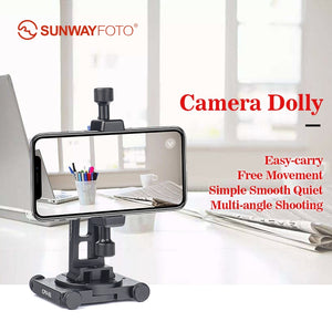 Sunwayfoto CPV-01 Aluminium Cell Phone Panorama Head Stand Dolly support smartphone photography Accessories without Rail Slider