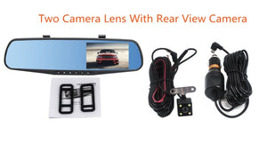 Wetowe car dvr mirror  Dual Len Car Dash Camera F16 Dash Cam DVR HD 1080P Rear View Camera Rearview Dashcam  Recorder Video