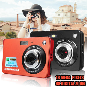 "Portable Mini Camera 2.7"" 720P 18MP 8x Zoom TFT LCD HD Digital Camera Camcorder Video Camcorder DV Anti-Shake Camera"