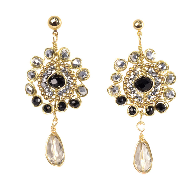Aretes Cristal Negro 302 by Angelozano