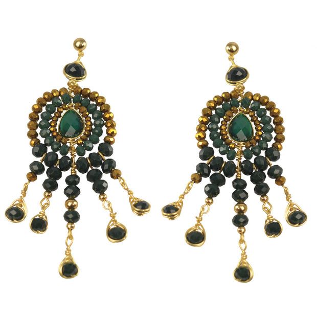 Aretes Cristal Verdes 304 by Angelozano