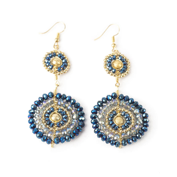 Aretes Cristal Azul 305 by Angelozano