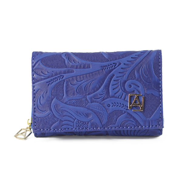 Cartera Kate Grabado Azul