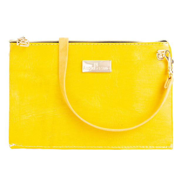 Katy Amarillo Mini Bolso Cincelado