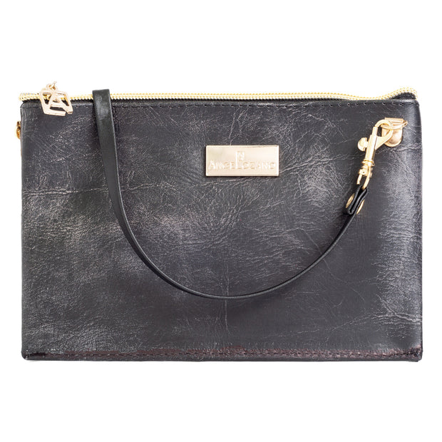 Katy Negro Mini Bolso Cincelado