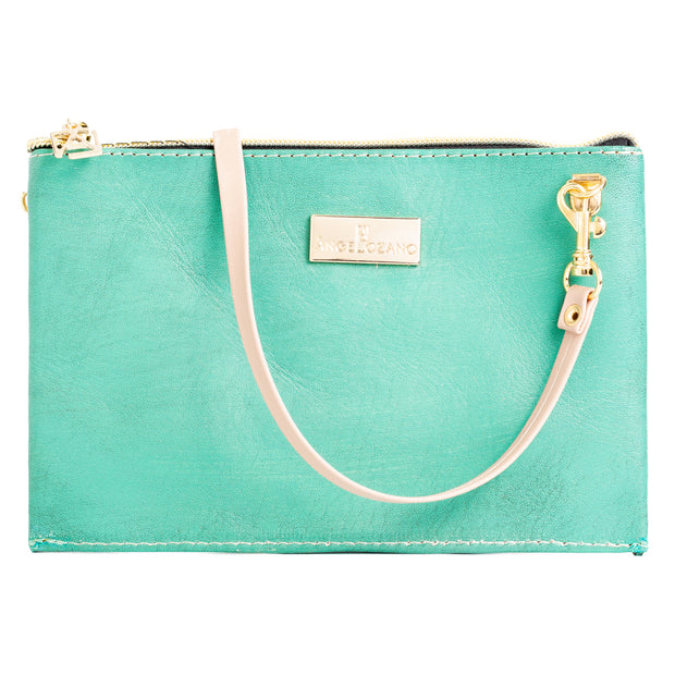 Katy Aqua Mini Bolso Cincelado