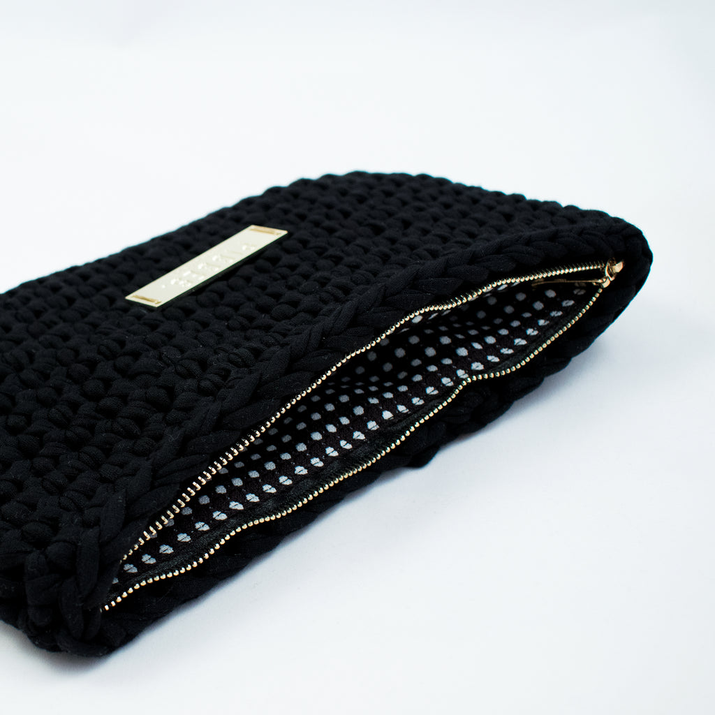 Black bag - clutch bag / Melna soma - klaču soma