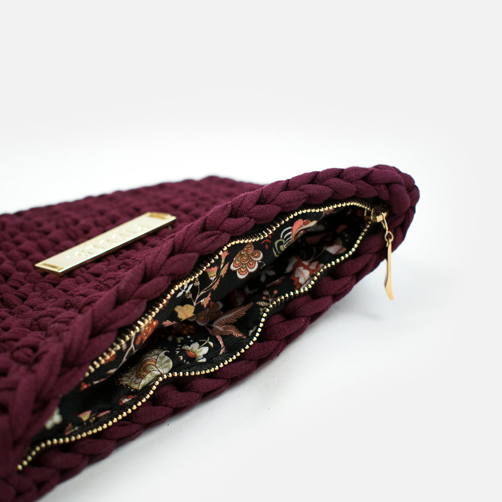 Claret bag - clutch bag / Bordo soma - klaču soma
