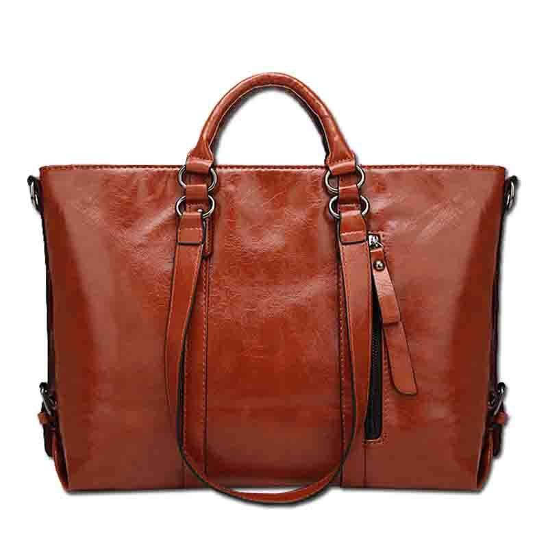 8bb0bbad085b Women Pu Leather Tote Handbags Casual Large-Capacity Crossbody Bags  Shoulder Bags