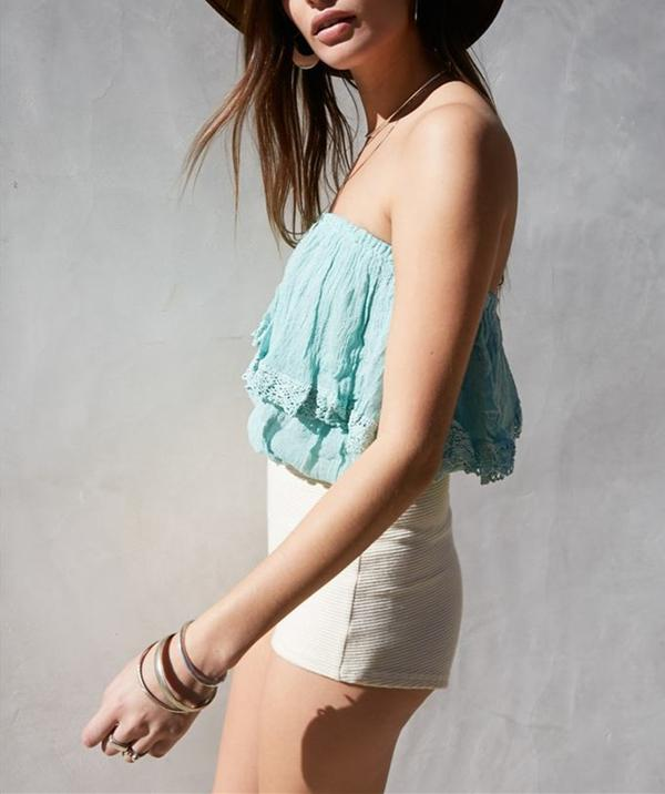 Sexy Lace Off Shoulder Sleeveless Tops