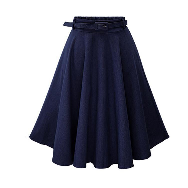 Elegant Slim Casual Skirt With Belt