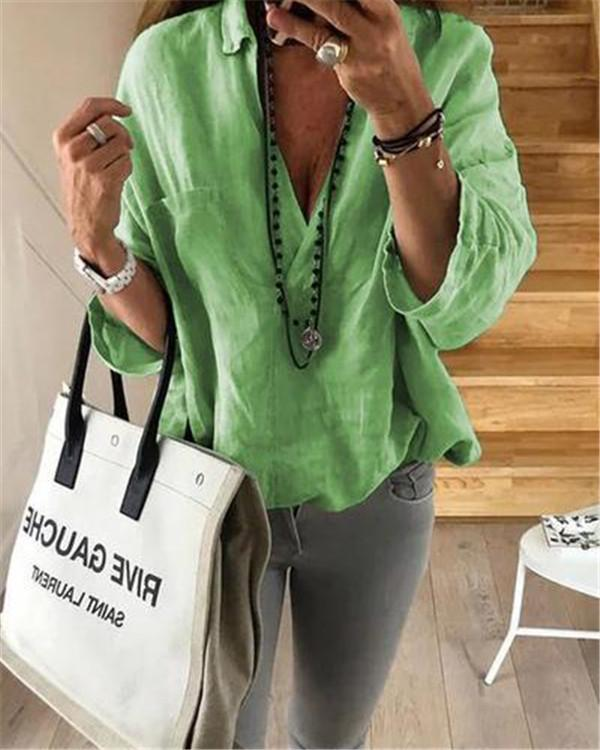 3/4 Loose Sleeve Casual Lady Women Daily Shift Tops