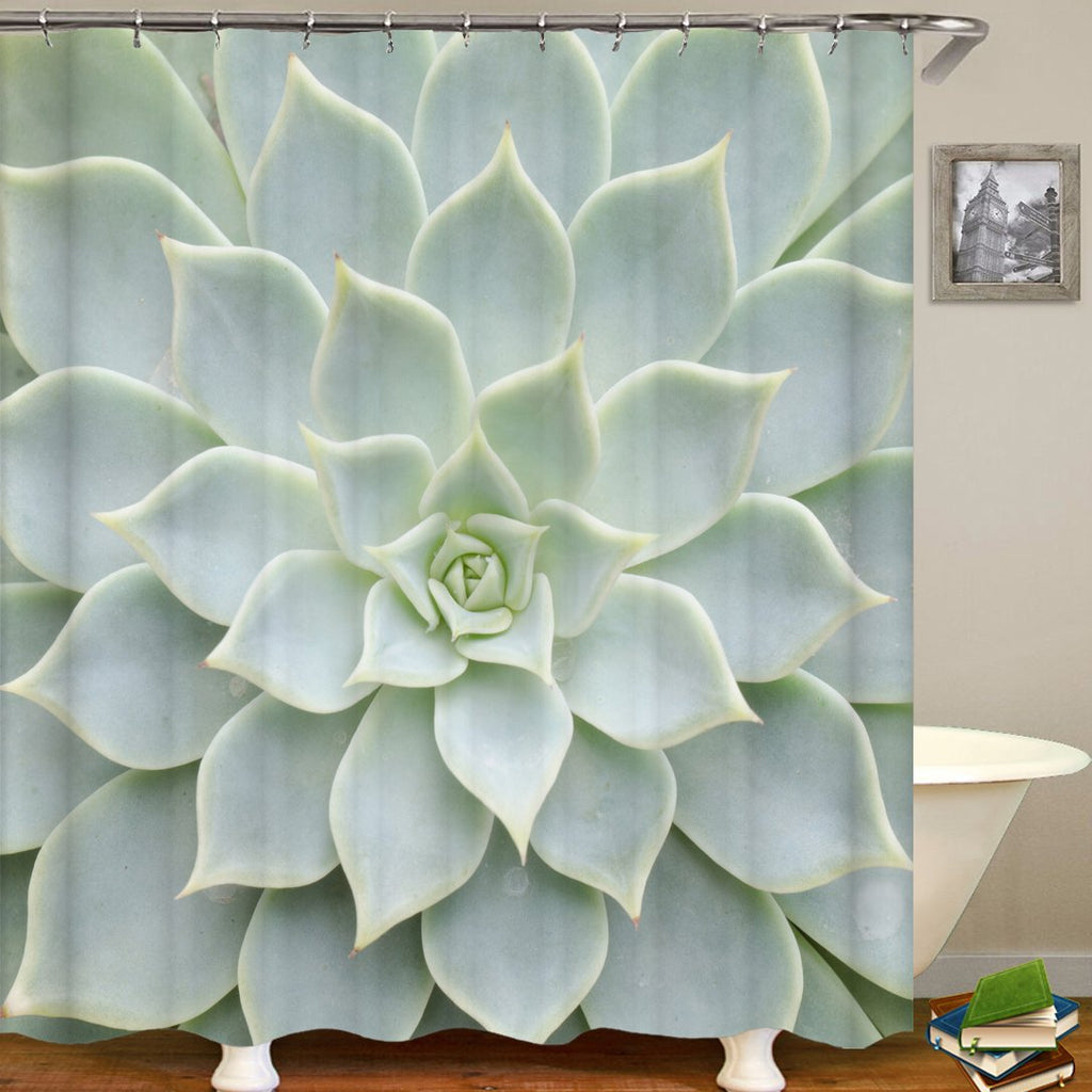 3D Embossed Flower Series Pattern Bathroom Curtain Mildew Waterproof Shower Curtain