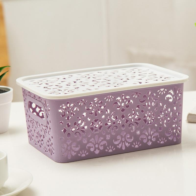 Plastic Storage Basket Box Bin Container Organizer Clothes Laundry Home Holders
