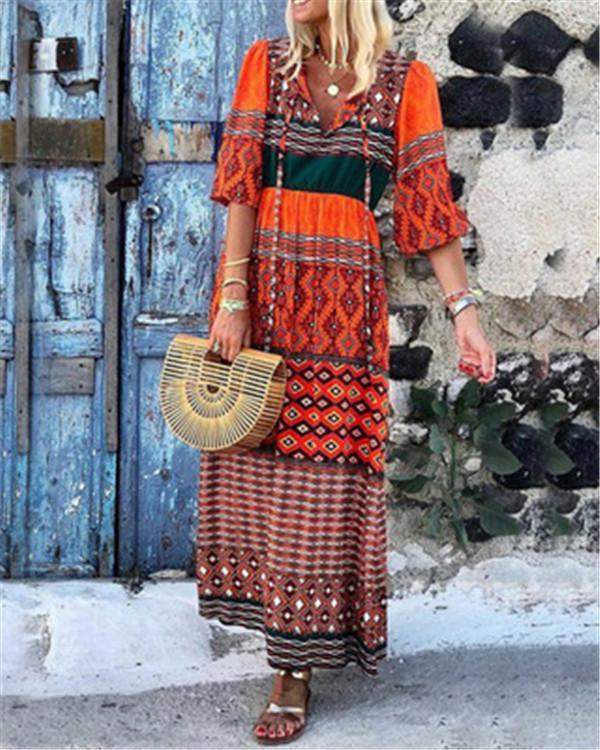 Bohemian Holiday Lifestyle Summer Holiday Daily Fashion Maxi Dresses