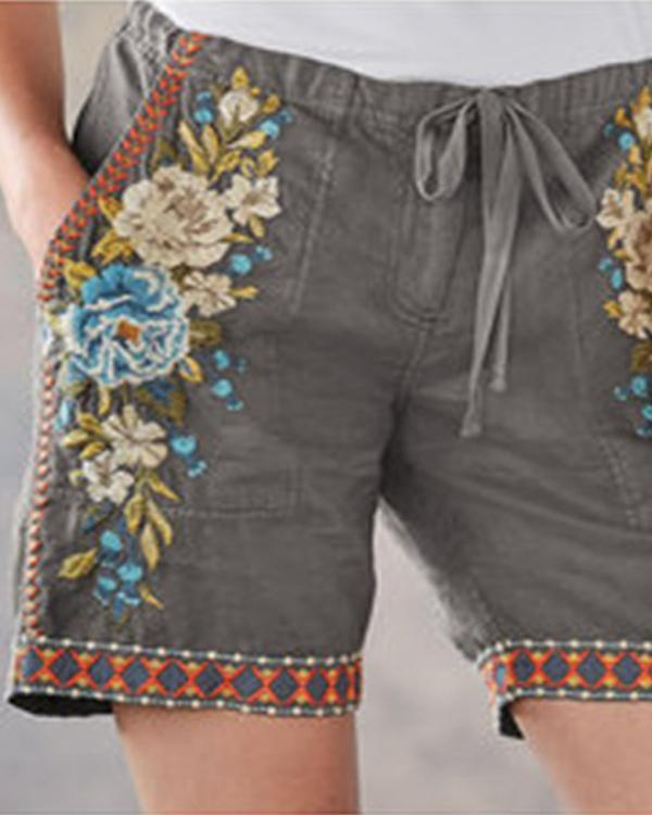 Comfy Vintage Embroidered Lace Pants