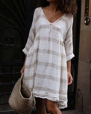 Women  Plus Size Casual Printed Dress