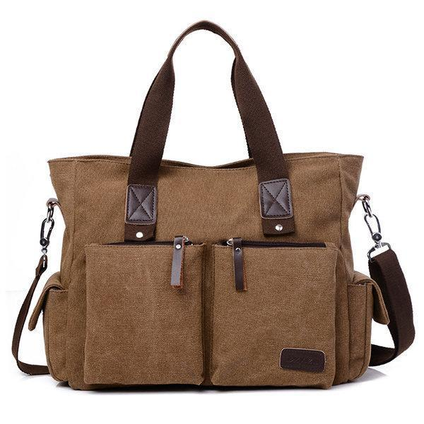 Large Capacity Multifunctional Crossbody Bag Canvas Outdoor Handbag