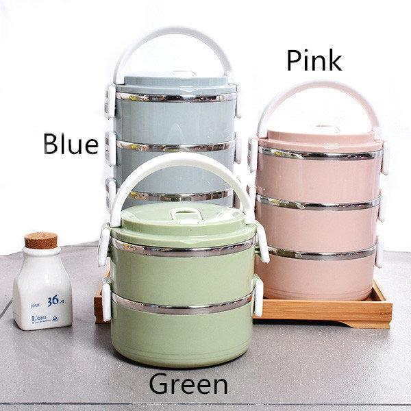 dc6b27357d9d 1/2/3/4 Layers Stainless Steel Thermal Insulated Lunch Box Bento ...