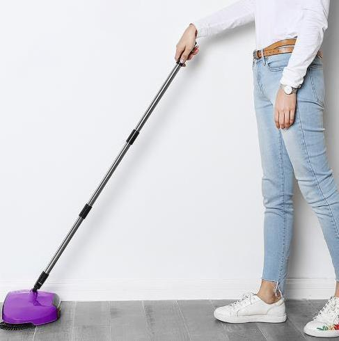 High-Tech Sweeping Device, No Electricity Needed (All In One Floor-Cleaner)