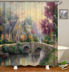 Plum Blossoms 3D Digital Printing Bathroom Curtain Mildew Waterproof Shower Curtain