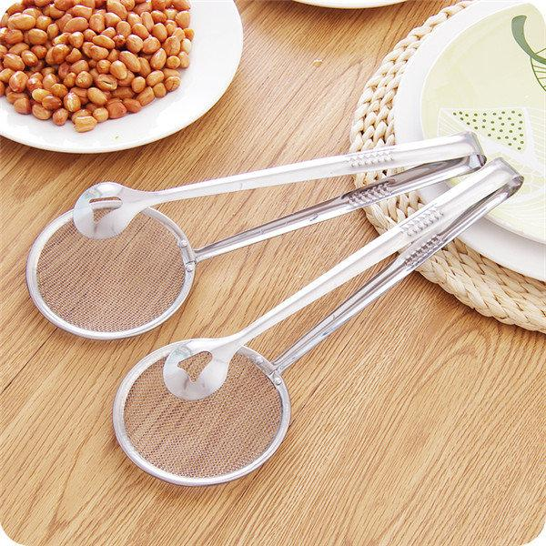 Kitchen Multi-Function Strainers With Clamp Stainless Steel Food Clip Sifter Colanders Cooking Tools