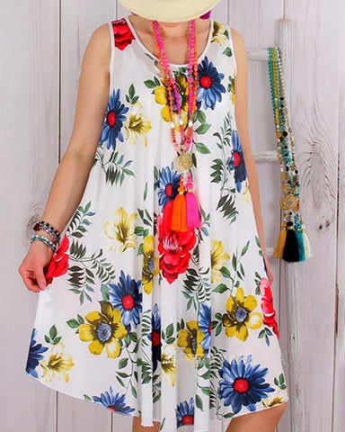 Women Dresses Daily Vintage Color-Block Dresses