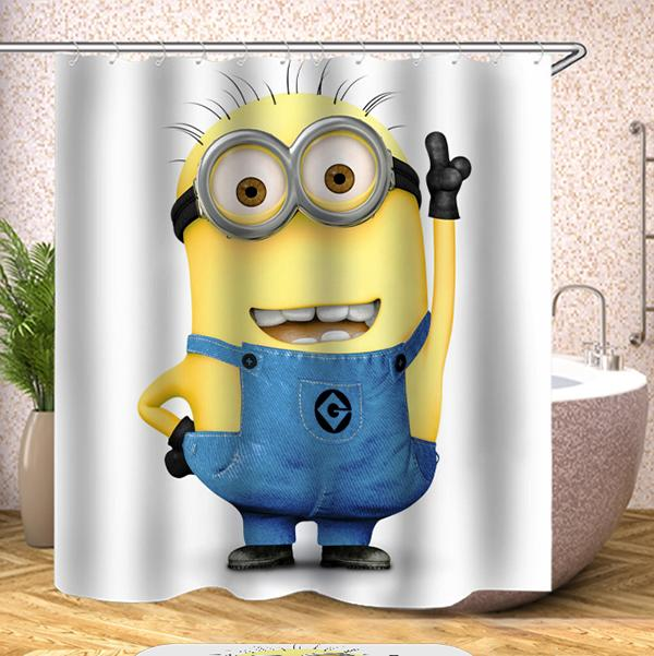 Cartoon Digital Printing Pattern Bathroom Curtain Mildew Waterproof Shower Curtain